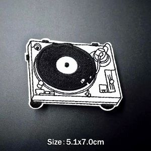 Accessories - Record Player Turn Table Iron On Embroidered Patch